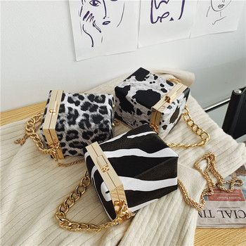 Animal print Leopard cow Clutch Bag Mini Small chain Bags Handbags Women evening Bags Fashion for Woman