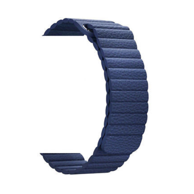 Band Genuine Leather Replacement magnetic Strap Adjustable Loop Strong Magnet Closure Wristband Men Women For Apple Watch