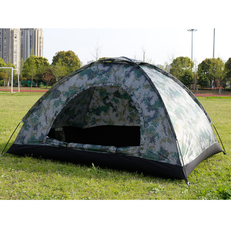 YJN5636 Outdoor Automatic Four Person Double Single Camouflage Beach Military Camping Tents