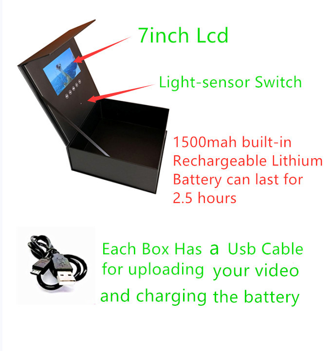 High Resolution Display Lcd Screen Box With Control Button / Video Box