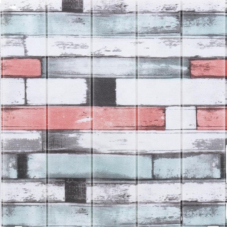 Настенная панель из натурального дерева, современные настенные 3d-панели, клейкие 3d настенные панели для украшения дома