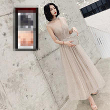 It's Yiiya платье для выпускного вечера с v-образным вырезом и блестками без рукавов ТРАПЕЦИЕВИДНОЕ короткое платье для выпускного вечера длино...(Китай)