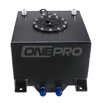 Racing Car 20L 5 Gallon Aluminum Alloy Black Anodized Fuel Cell Tank with Level Sender