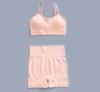 pink bra+short