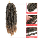 Hair 24 Inch Cheap Factory Wholesale 14 18 Synthetic Faux Fluffy Faux Loc Braids Hair 12 Pre-Twisted 24 Inch Distressed Butterfly Locs Croche