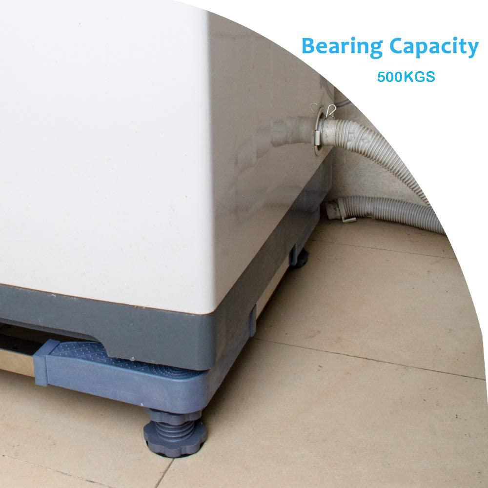 Подставка для сушилки и стиральной машины, Универсальная регулируемая подставка с 4 сильными ножками, компактная подставка для стиральной машины, холодильника