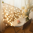 Decoration Light String 80 LED Christmas Home Decoration For Tree White Spiny Soft Ball String Light With Plug