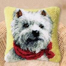 Подушка коврик собака 3D вышивка ковровые наборы защелки крючок Сделай Сам Рукоделие незавершенные вязание крючком Пряжа(Китай)