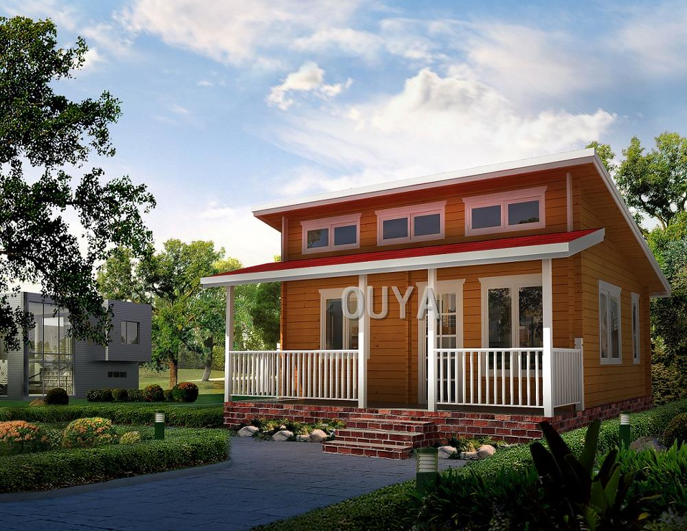 2-layer slant top prefabricated wooden cabin
