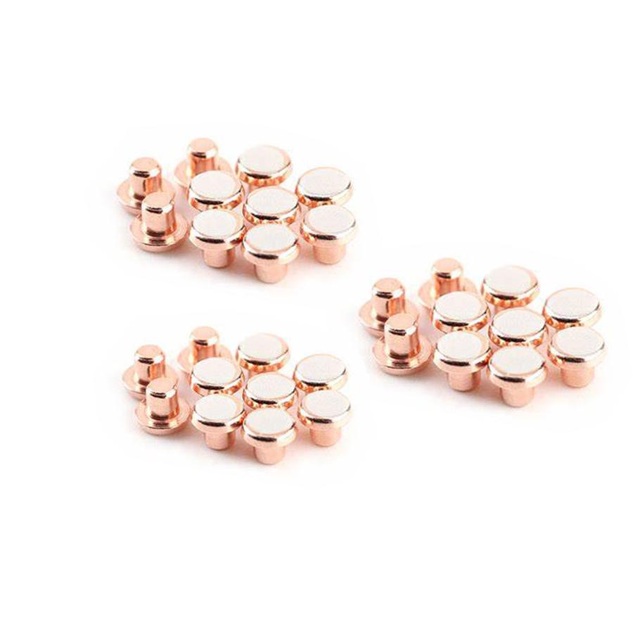 AgCu Silver Copper Electrical Contact Materials Solid Copper Rivet Flat Head Metal Rivets