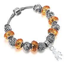 Женский браслет с бусинами Todorova, браслет ручной работы из муранского стекла с цепочкой-змейкой, 31 стиль(Китай)