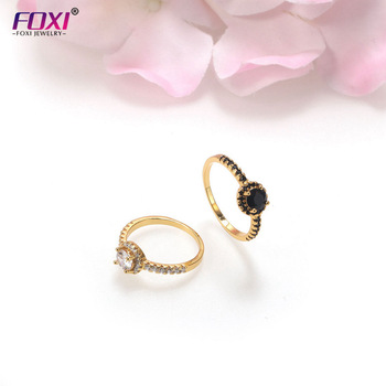 FOXI New arrival silver engagement ring gemstone jewelry design 18K gold plated amethyst diamonds wedding rings women