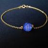 10MM Lapis Lazuli MM Red Jasper + Gold Chain