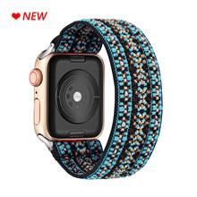 Эластичный ремешок для часов Apple Watch 5, 6, 4, ремешок для часов SE 38 мм/40 мм, 42 мм/44 мм, повседневный женский браслет для девушек iwatch 6, 5, 4(Китай)