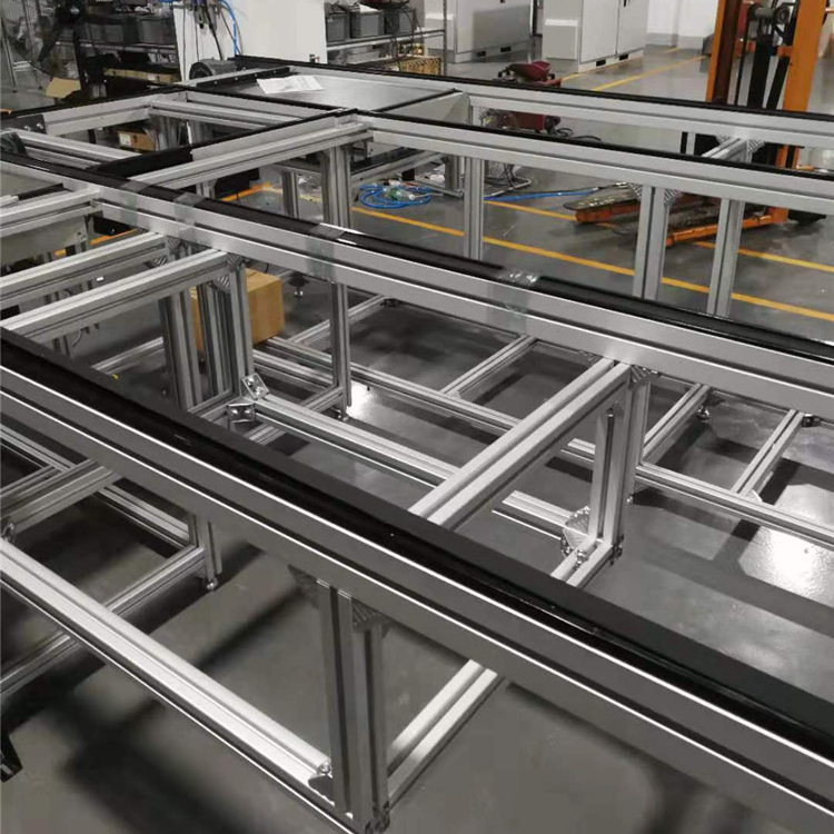 Aluminum Customize Construction Works Manufacturing Motor Plant Positioning Conveyors Belt For Sale