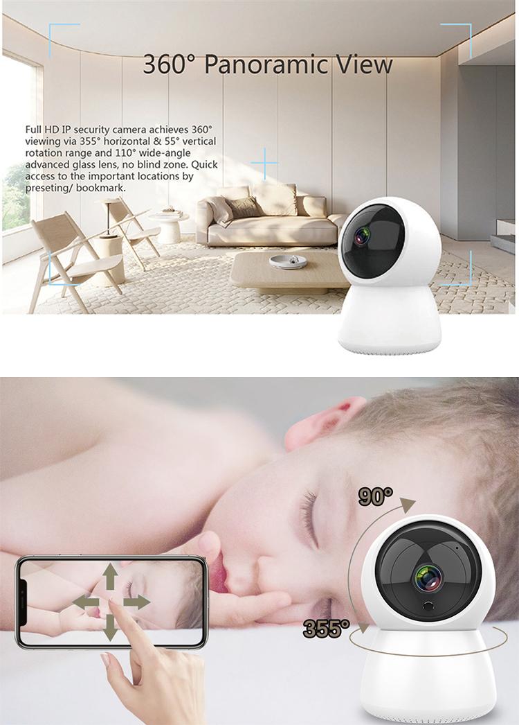 Camera Quan Sát Mini Với Âm Thanh 2 Chiều Trong Nhà Camera WiFi 1080P Không Dây WIFI IP Hỗ Trợ Tuya Smart