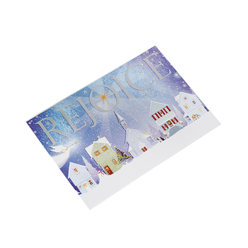 Beautiful Merry Christmas greeting post card DIY Christmas greeting card