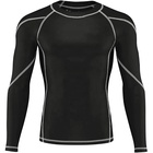Customized Men's Fashion Cycling Clothes Black Quick Drying Long Sleeve Gym Apparel Long Sport T Shirt for Men