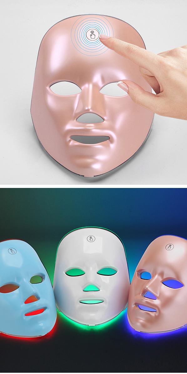 Thuisgebruik Pdt Foto Lichttherapie Facial Skin Beauty 7 Kleuren Led Gezichtsmasker