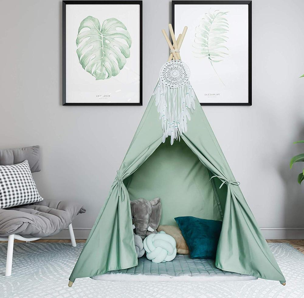 Children Play House Canvas India Tent Portable Play House Teepee Tent for Kids