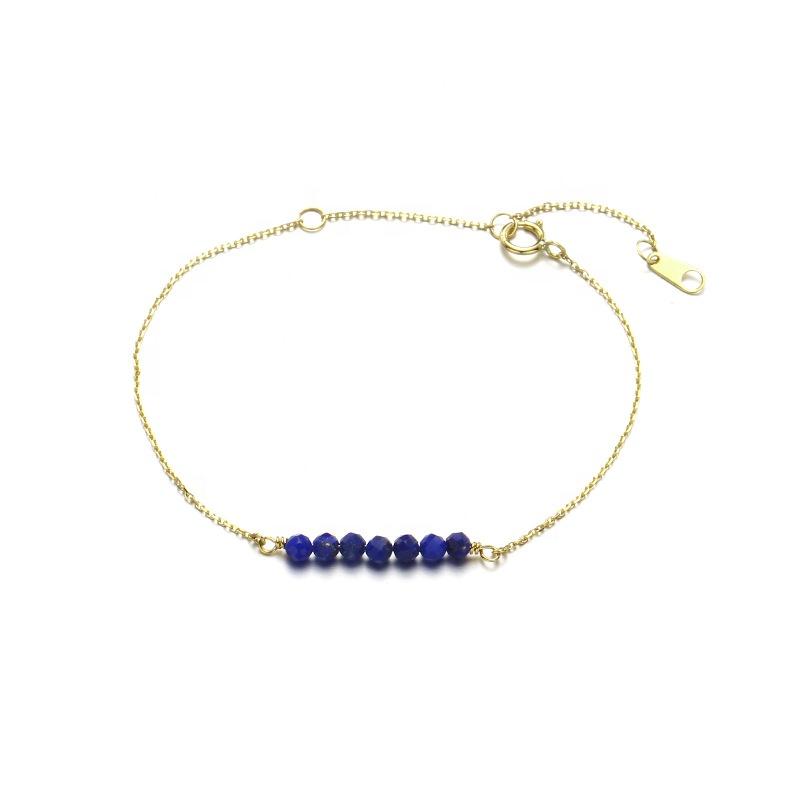 Fine Lapis Lazuli Gold Bracelet