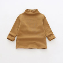 Коллекция 2019 года, весенние хлопковые однотонные универсальные футболки в Корейском стиле для мальчиков и девочек детские топы с длинными ...(Китай)