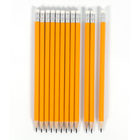Pencil School Customized Logo 7 Inches Poplar Wood Hexagonal Yellow HB Pencil With Eraser For Office And School