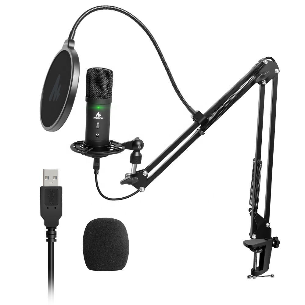 MAONO studio with Echo Volume recording studio mic