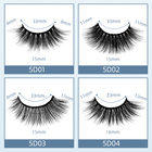 Eyelashes 1 Pair Luxury 5D Mink Eyelashes Fake Eyelashes Soft And Natutal Thick Long Lashes Extension
