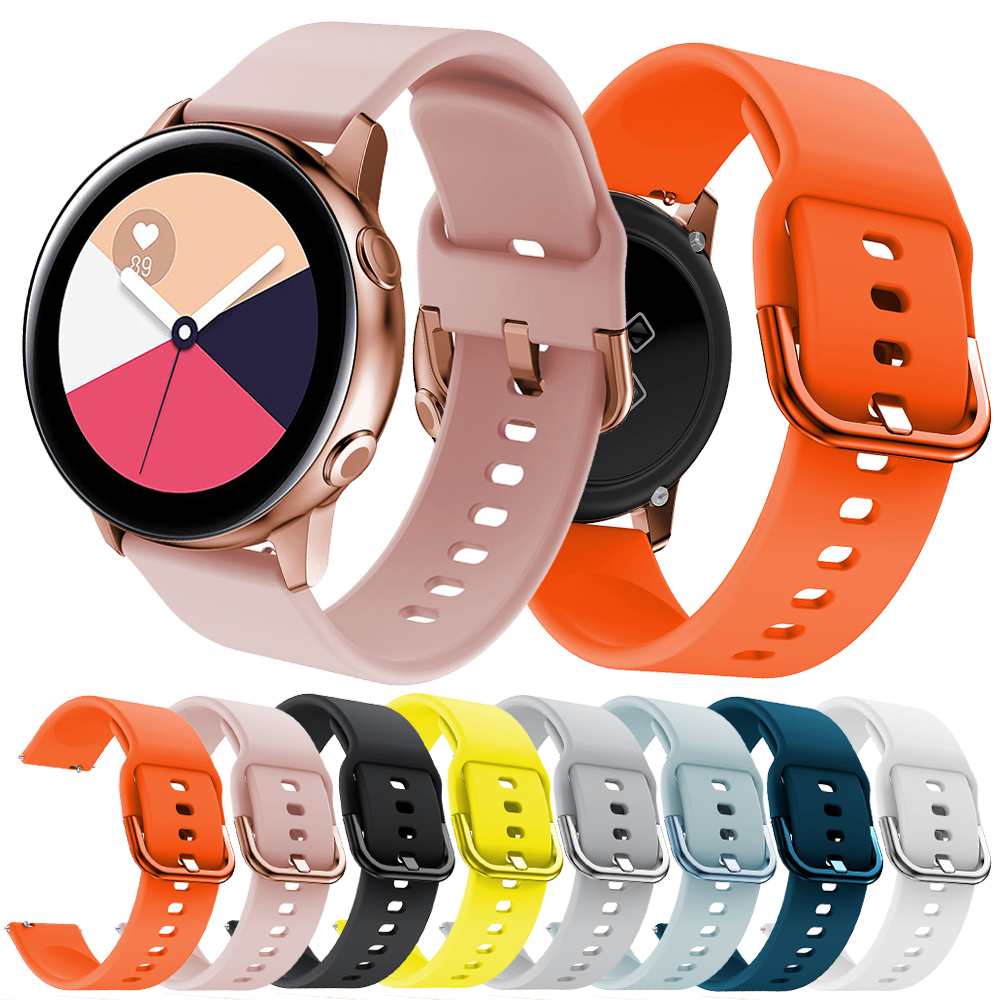 20mm Silicone Watchband for Samsung Galaxy Watch Active 42mm Gear S2 Sport Replacement Bracelet Band Strap for SM-R500