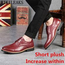 Официальная обувь; Мужская классическая Свадебная обувь; 2020; Мужская обувь, увеличивающая рост; Итальянский бренд; Вечернее платье; Коротки...(China)