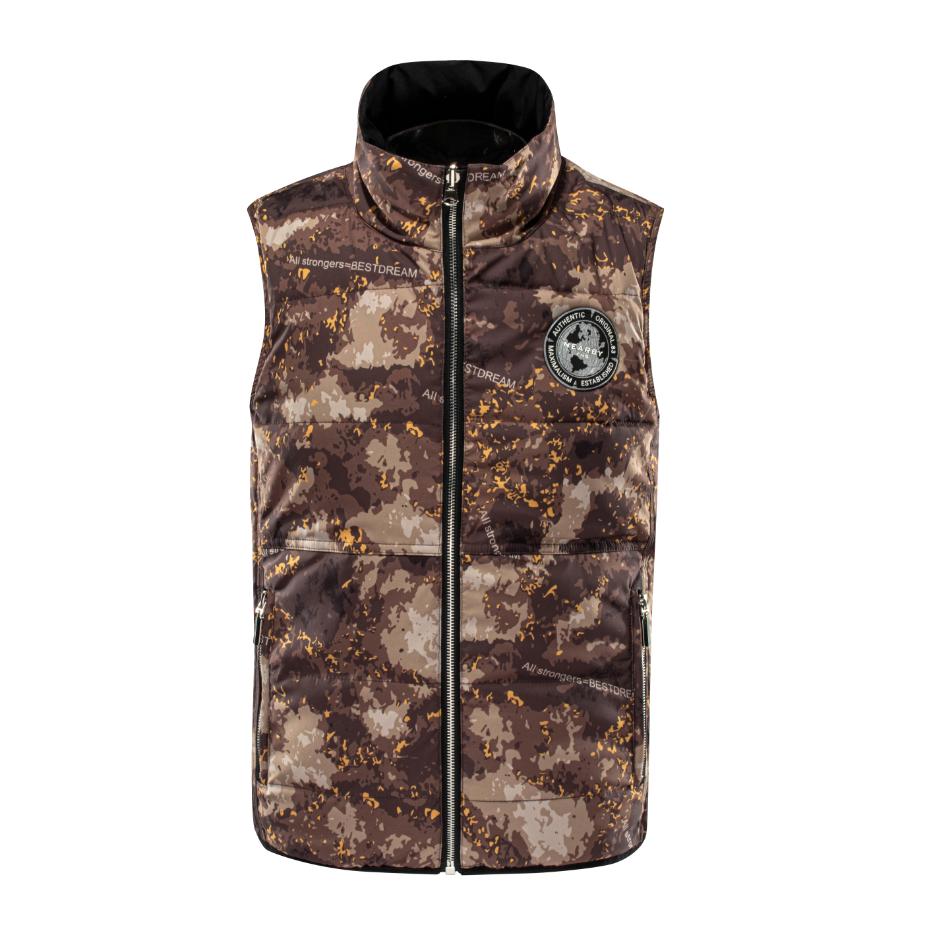 Lightweight Army green military Plain Bubble padded Puffer Zipper double wear Vest For Men