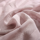 Customized woven pink 14.5M/M silk touch clip jacquard fabric viscose for clothes