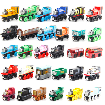 Educational Kids train toys wooden magnetic mini wooden train set toy