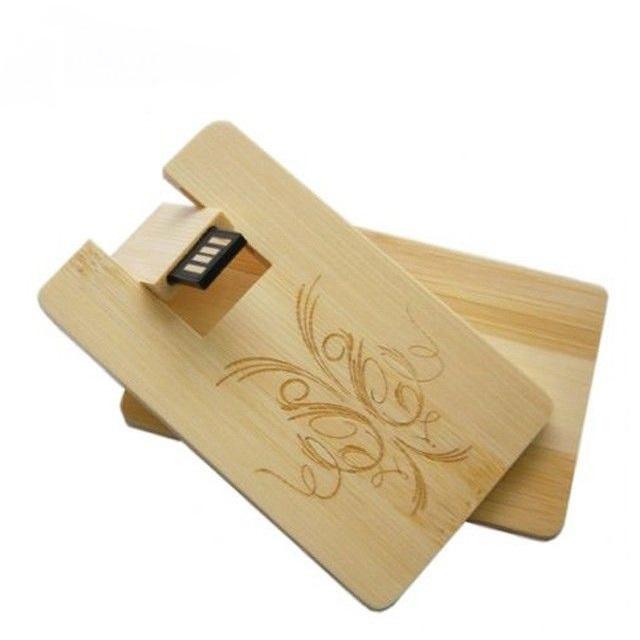 Usb Flash Pen Drive Memory Stick Wooden Credit Card Shape For Custom Logo Box Corporate Gift 2.0 8Gb 16Gb 32Gb - USBSKY | USBSKY.NET