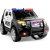 Kids 12V Electric Police Ride-On SUV with RC, Lights/Sounds, AUX, Black jeep children car