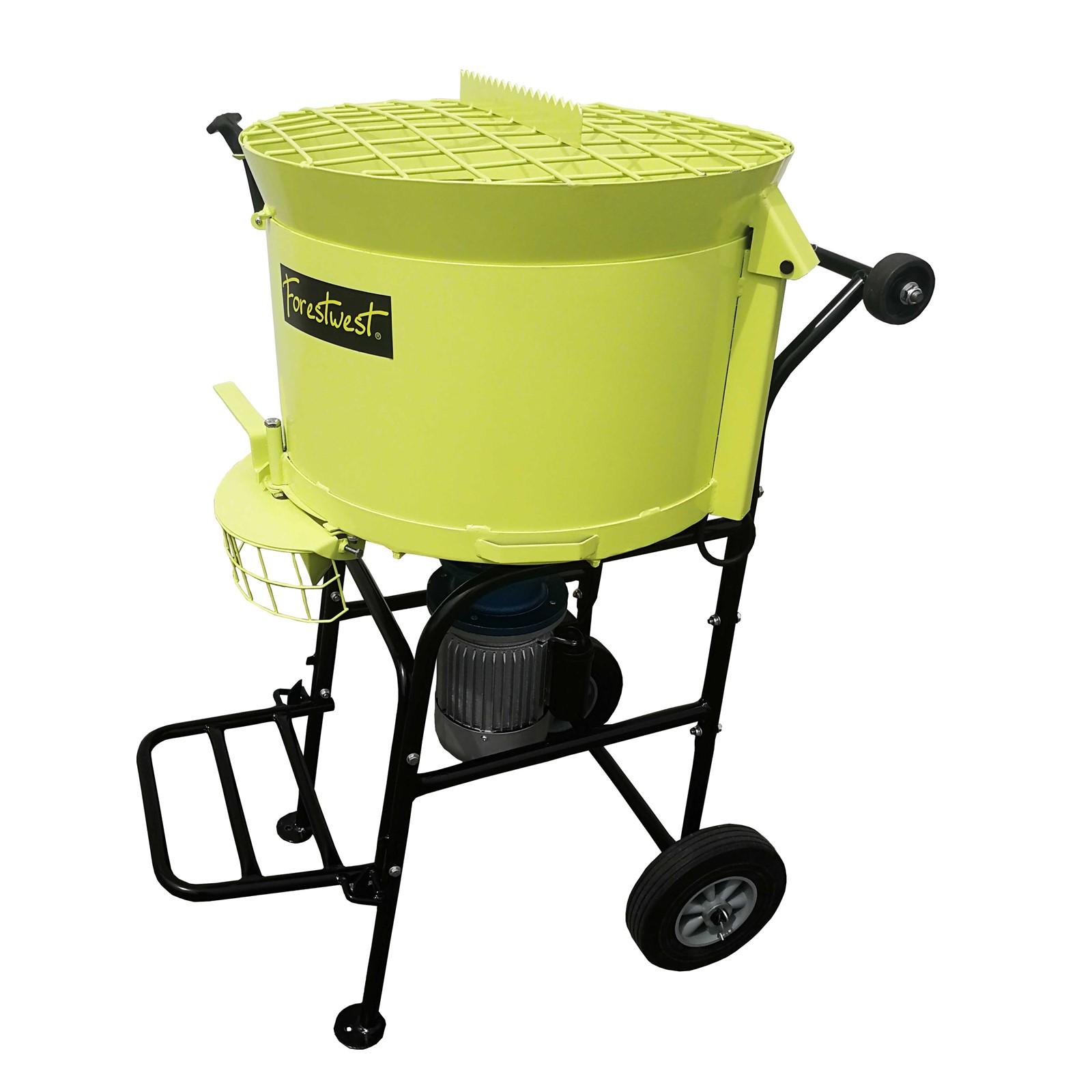 80L портативный вилочный смеситель, электрическая сковорода, смеситель цементного раствора, 1100 Вт, Смеситель Принудительного действия, строительная смесительная машина для плитки