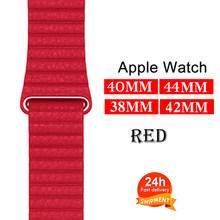 Ремешок из натуральной кожи для Apple Watch 5 4 42 мм 38 мм 44 мм 40 мм, ремешок для iWatch 5 4 3 2 1(Китай)
