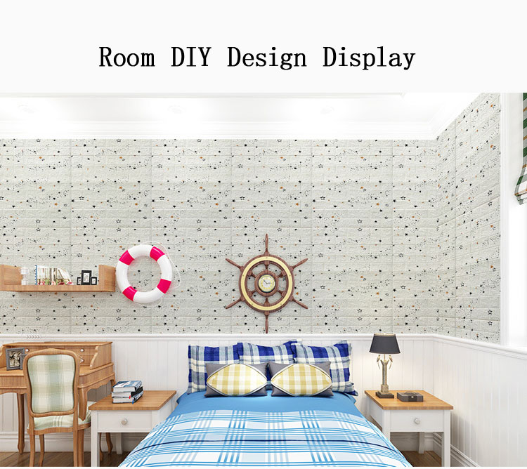 Водонепроницаемые настенные фрески XPE в форме звезд для детской комнаты, 3d пенопластовые наклейки для украшения стен в спальню, гостиницу