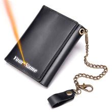 WESTAL мужские кожаные кошельки с гравировкой, роскошные брендовые дизайнерские сумки для денег для мужчин, тонкий короткий кошелек на заказ, ...(Китай)
