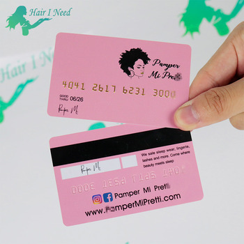 Custom Plastic Business Cards Chip PVC Credit Card Magnetic Visa Membership Card