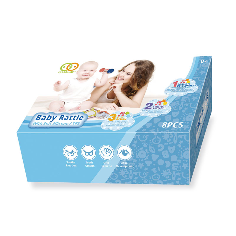 Early educational toddler teething set sensory silicone teether toy rattles for babies