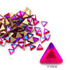 1# 3*3mm Triangle Red AB