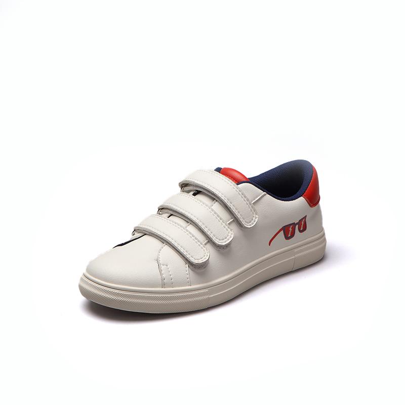 Лидер продаж 2021, кожаная повседневная обувь унисекс для мальчиков и девочек с принтом