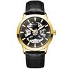 Gold case, black dial