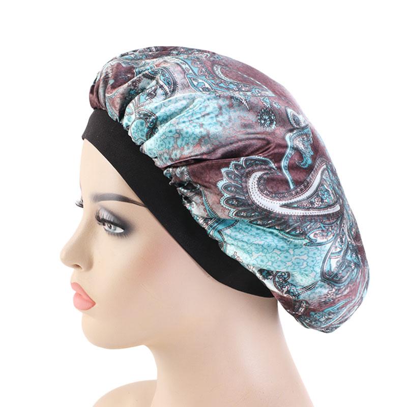 Silky paisley pattern durag du rags bandanas fashion hair turban wholesale hair accessory women