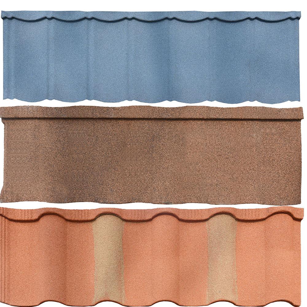 Цветная декоративная и антикоррозийная металлическая черепица для крыши дома
