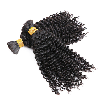 Bulk No Weft Braiding Hair Burmese Curly Wholesale 100% Unprocessed Raw Human Hair