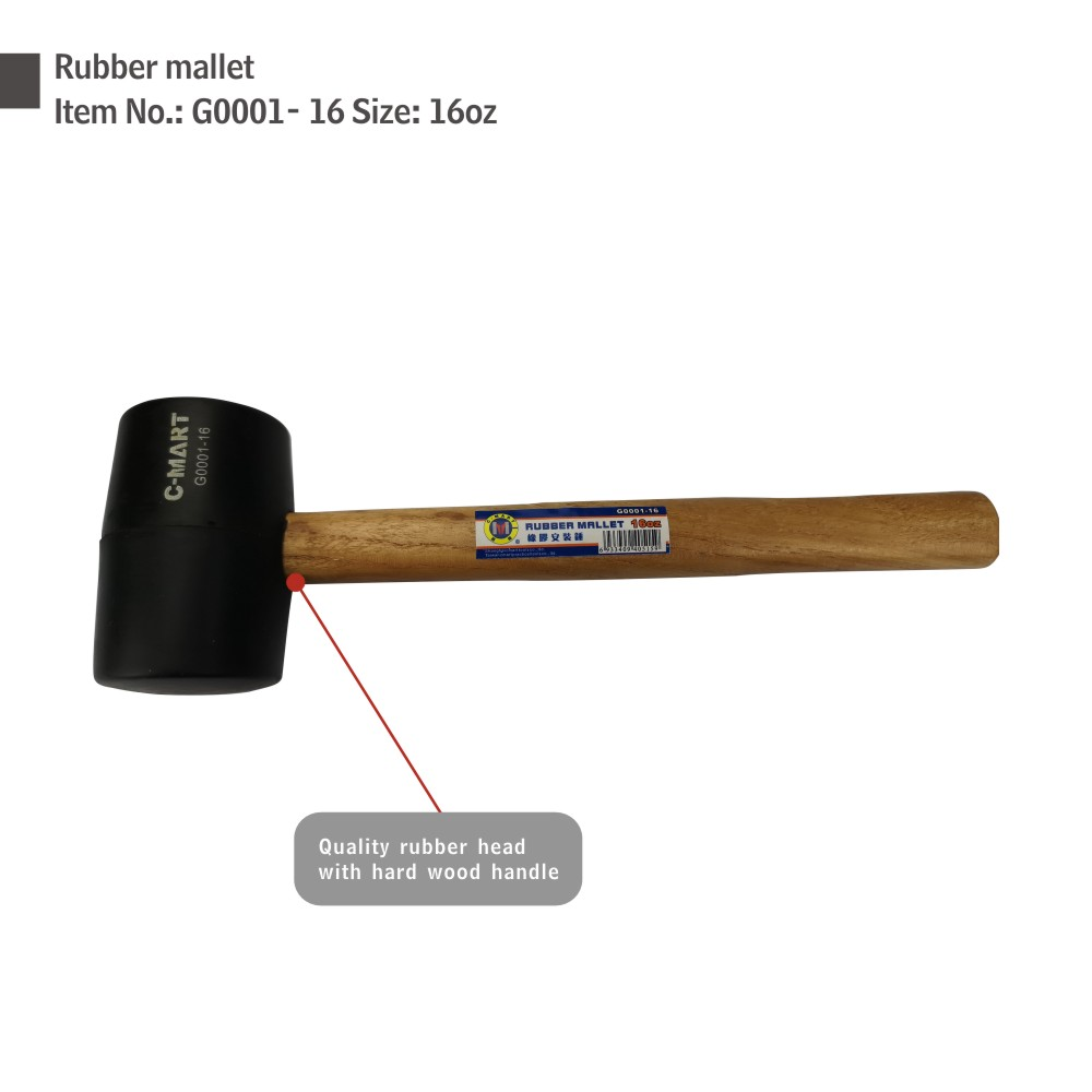 8 oz wood handle Building Essential Items Wooden Handle Rubber Mallet hammer