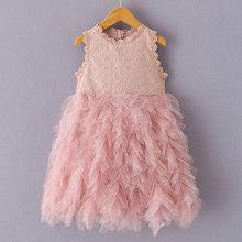 Платье с цветами для девочек Bear Leader, новинка 2020 года, модное Летнее Детское платье на бретельках, платье для выпускного бала с цветочным рису...(China)